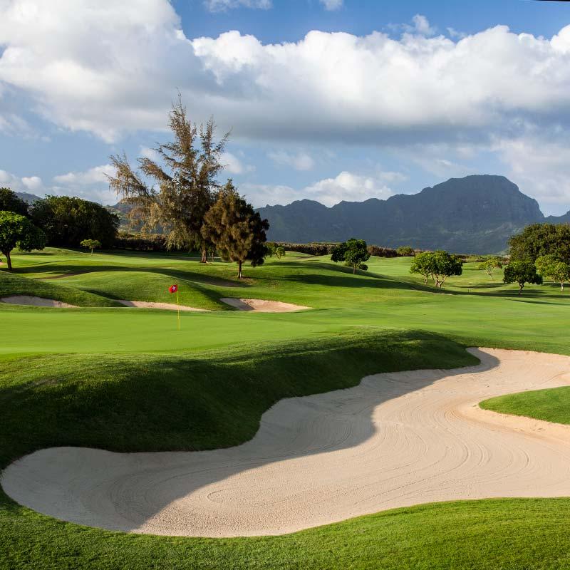 Poipu Bay Golf Course 6th-green